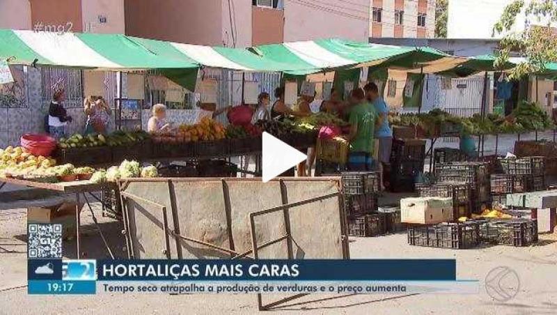 Seca gera aumento dos preços dos produtos nos hortifrútis de Juiz de Fora