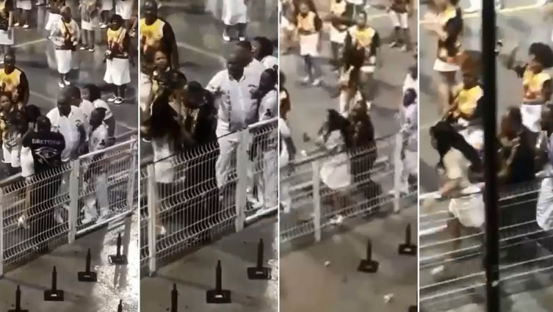Integrante da Vai-Vai agride mulher durante ensaio no Anhembi; escola diz que homem foi afastado