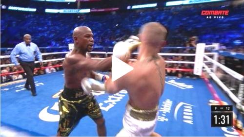 Mayweather dá aula de boxe em dez rounds e nocauteia Conor McGregor