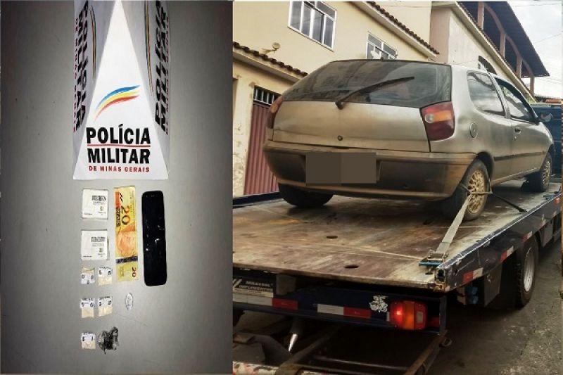 S.J. NEPOMUCENO: Homem é preso com drogas e tem carro apreendido no Centro