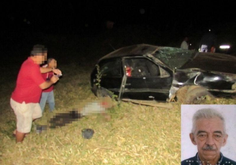 Homem de 74 anos morre e mulher fica gravemente ferida em acidente próximo a Vieiras
