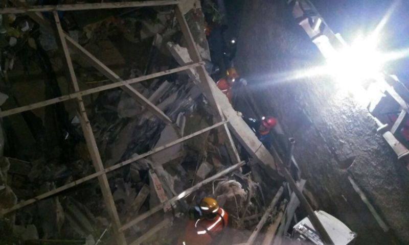 Idosa morre soterrada após desabamento de imóvel em Rio Pomba