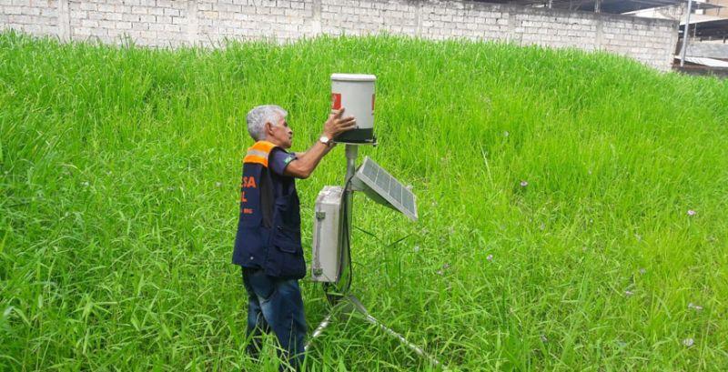 Defesa Civil realiza limpeza dos pluviômetros em Juiz de Fora