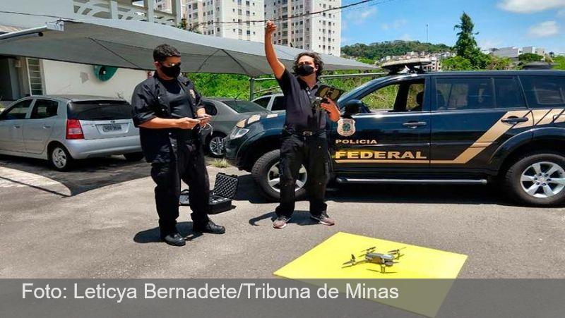 PF apresenta drones que serão usados nas eleições em Juiz de Fora