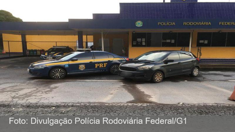 PRF de Juiz de Fora recupera carro que havia sido furtado em Belo Horizonte