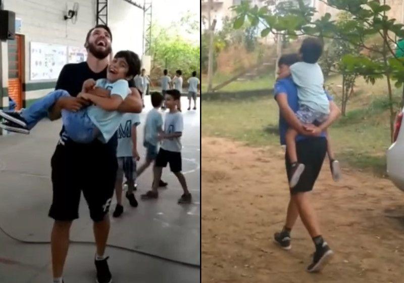 Professor pula corda com aluno cadeirante: 'Para ele fez diferença'