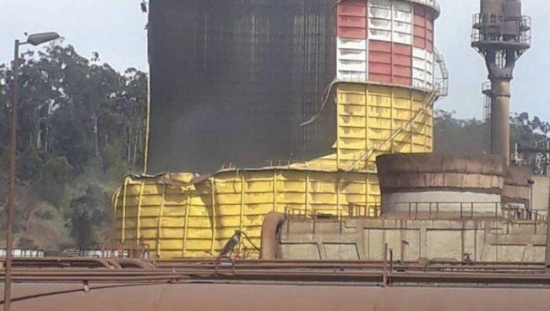 Entrada de ar causou explosão de gasômetro da Usiminas