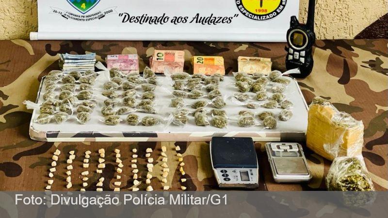 Jovem é preso por tráfico de drogas no Bairro Santa Terezinha em Juiz de Fora