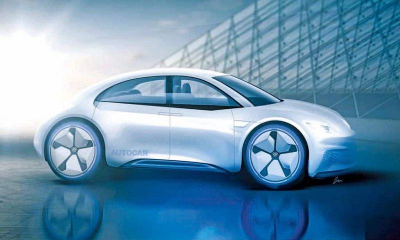 Fusca pode renascer como um carro elétrico com quatro portas