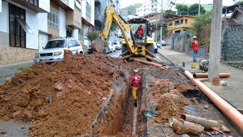 Cesama remodela redes de esgoto no bairro Dom Bosco em JF