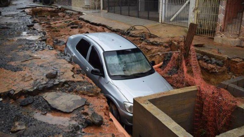 Mulher morre após se afogar durante temporal em Muriaé