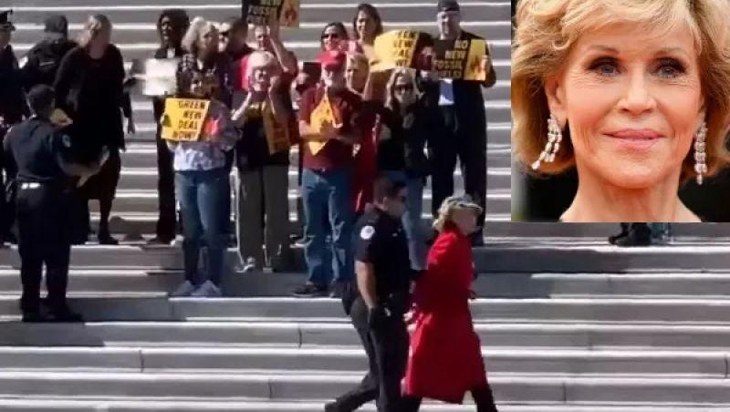 Atriz Jane Fonda, de 81 anos, é presa em protesto nos EUA