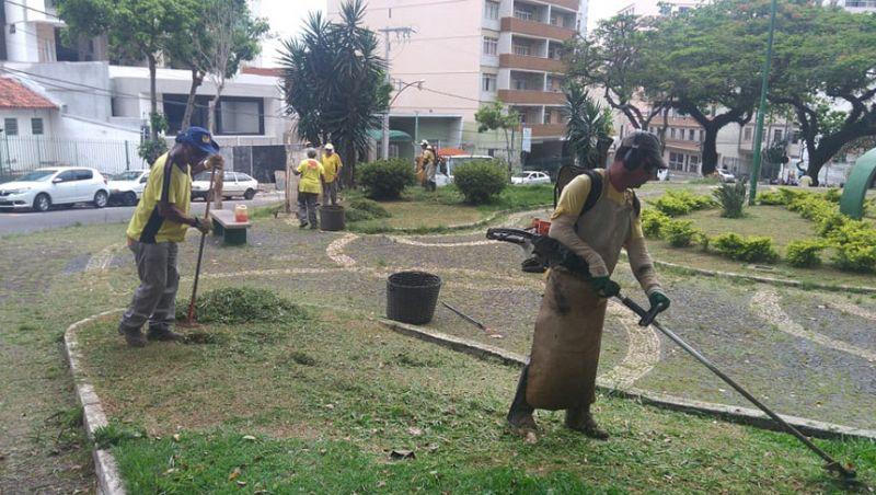 Empav realiza manutenção de praças e canteiros em 13 bairros de Juiz de Fora