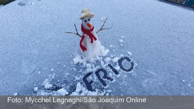 Com -7,5°C, SC registra a menor temperatura do Brasil em 2021, diz Inmet