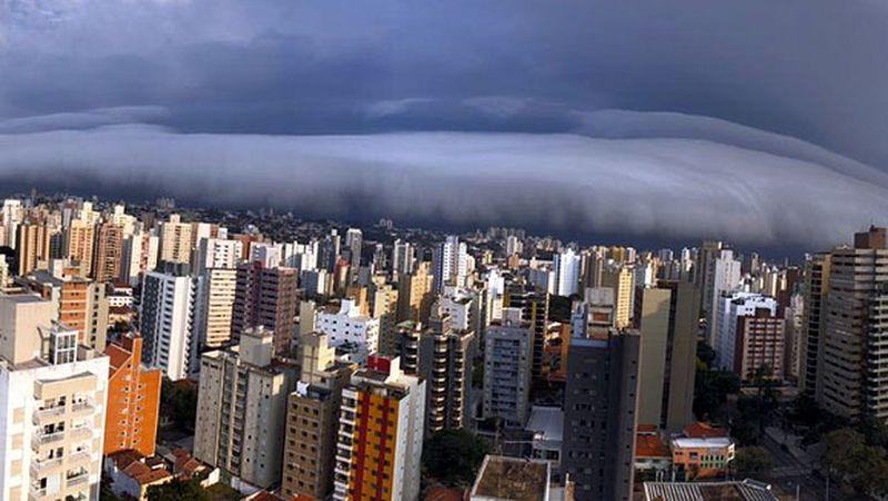 Nuvem rolo chama atenção na região de Campinas; FOTOS e VÍDEOS