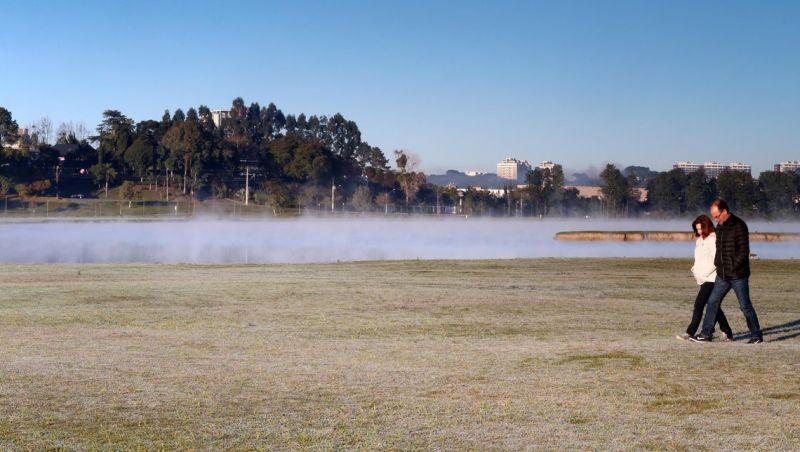 Paraná registra temperatura negativa na madrugada