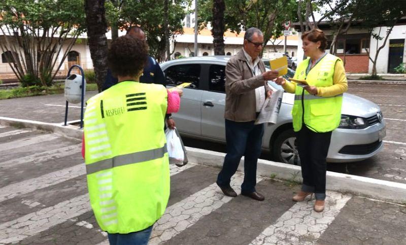 """Settra divulga """"Maio Amarelo"""" para os servidores da Prefeitura de Juiz de Fora"""