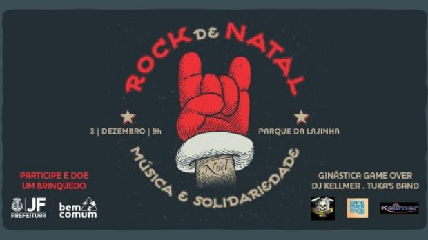 Domingo é dia de rock solidário no Parque da Lajinha