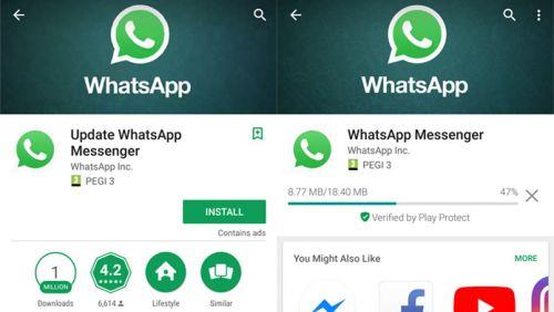 WhatsApp falso foi baixado mais de 1 milhão de vezes