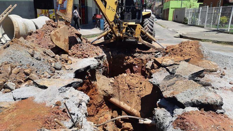 Secretaria de Obras de Juiz de Fora realiza manutenção em redes de drenagem