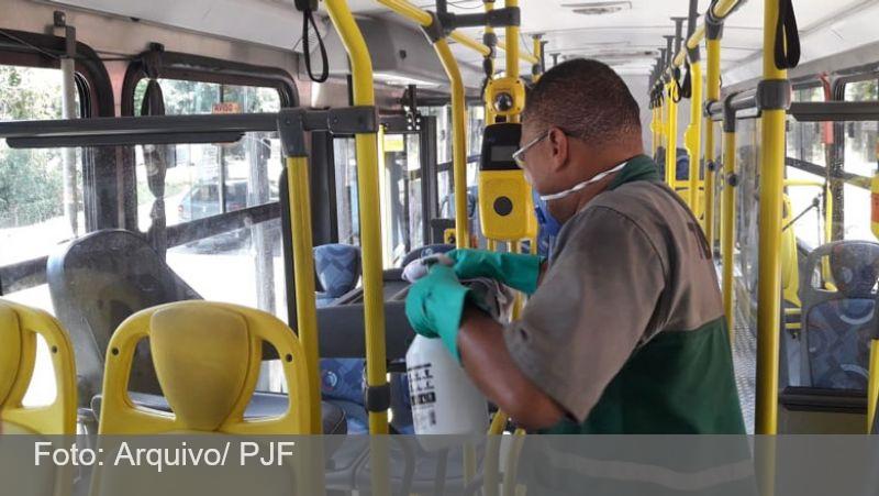 JF: Número de funcionários do transporte coletivo urbano com covid-19 é inferior a 2%