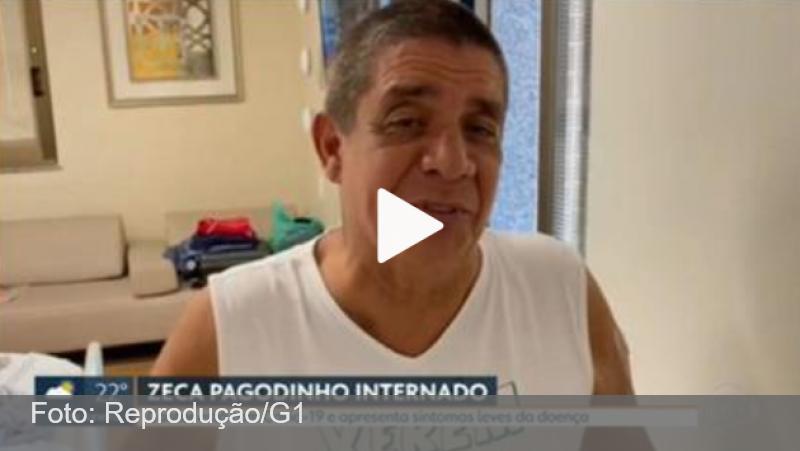 Internado, Zeca Pagodinho grava vídeo: 'O importante é se vacinar'