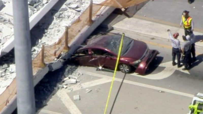 Sobe para seis o número de mortes por queda de passarela na Flórida