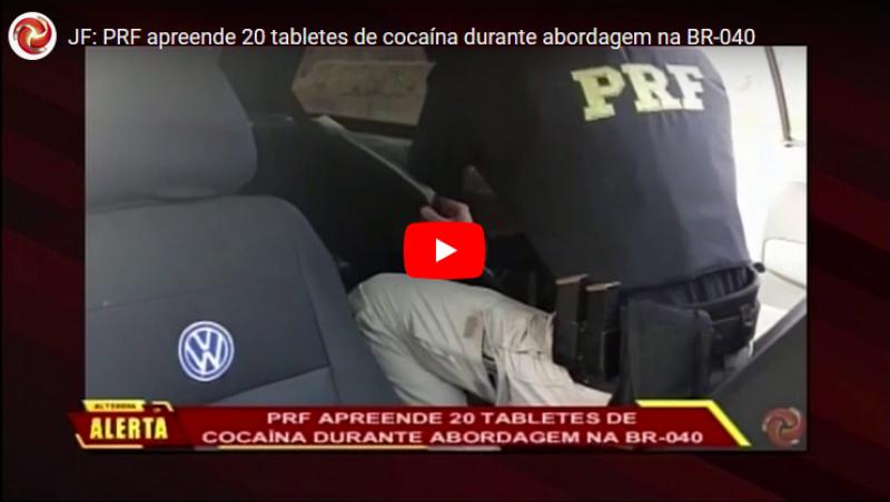 JF: PRF apreende 20 tabletes de cocaína durante abordagem na BR-040