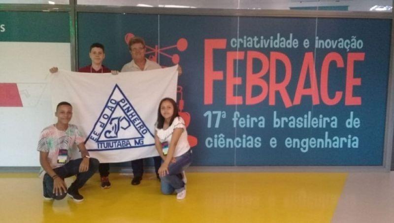 Alunos da rede estadual de Minas participam da maior feira científica do Brasil