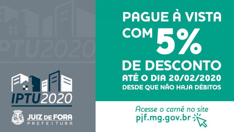 IPTU 2020 – PJF antecipa entrega de carnês pelos Correios