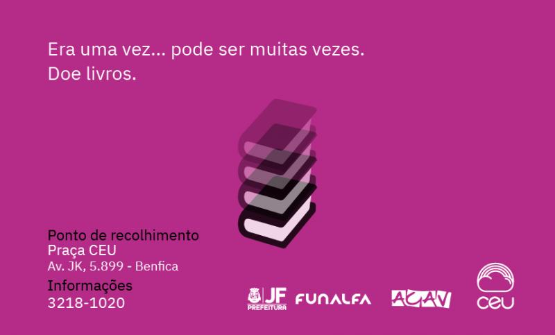 Praça CEU lança campanha de doação de livros em JF