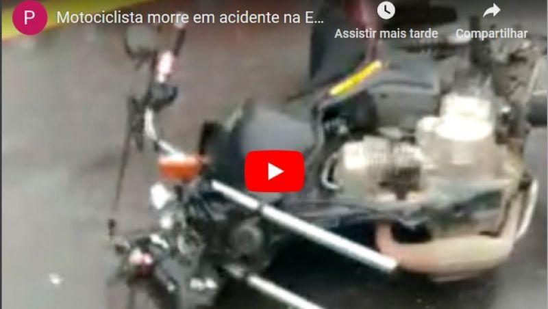 Motociclista morre em acidente na Estrada União e Indústria, em JF