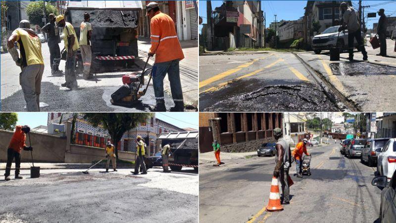 Empav realiza reparos no asfalto em diversos bairros de Juiz de Fora