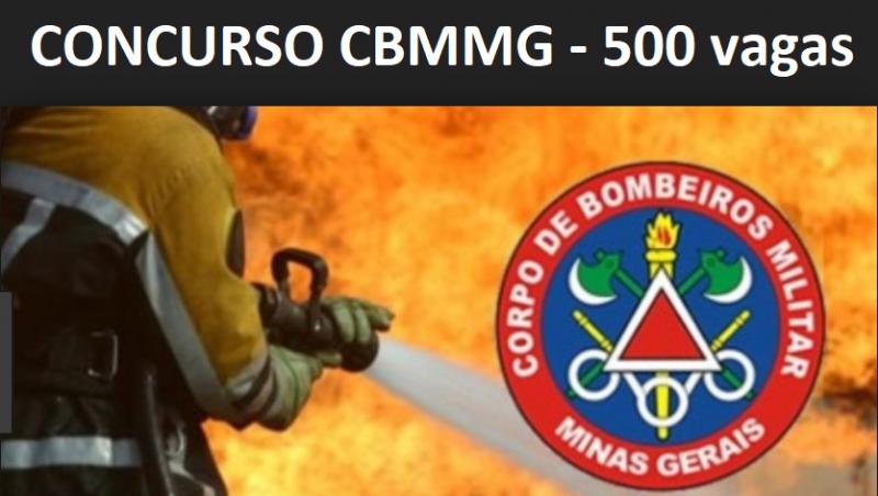 Concurso do Corpo de Bombeiros de Minas Gerais – 500 vagas para nível médio