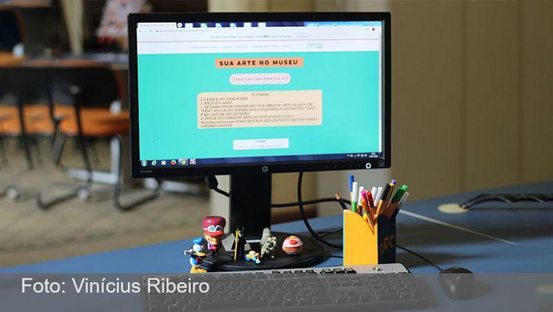 Atividade estimula crianças na criação de conteúdos sobre o Museu Mariano Procópio
