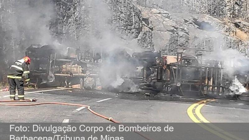 Motorista é carbonizado em acidente com caminhão-tanque na BR-265