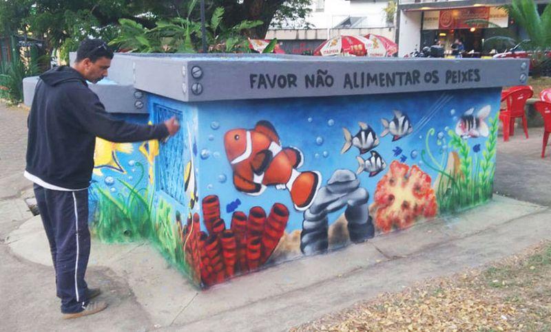 """""""Mostra de Graffiti Purencontro"""" conclui projeto de grafitagem das unidades da Cesama"""