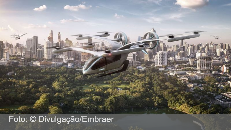 Embraer apresenta protótipo de carro voador elétrico