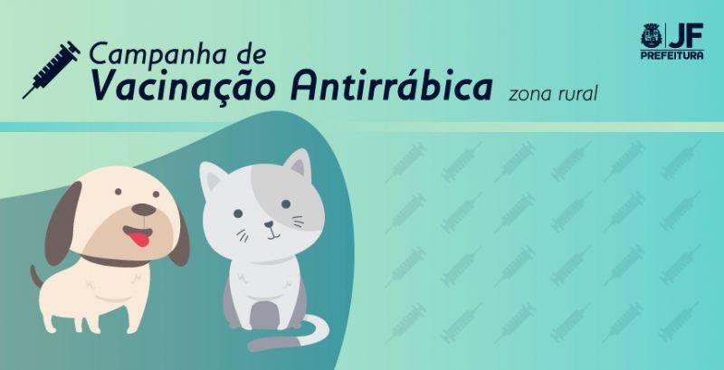 Vacinação antirrábica segue em nove localidades da zona rural  de Juiz de Fora nesta semana