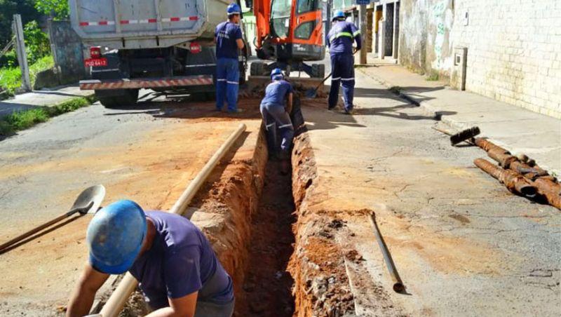 Cesama inicia remodelação de rede de água no Bairro São Bernardo em JF
