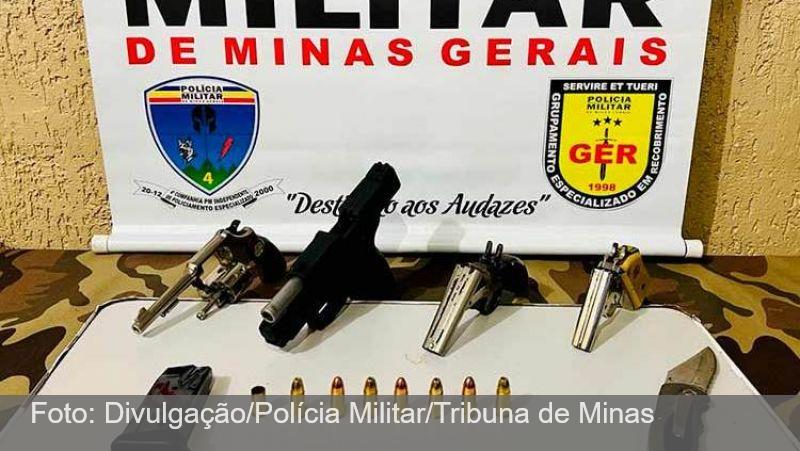JF: PM apreende armas e munições depois de desentendimento entre padrasto e enteado