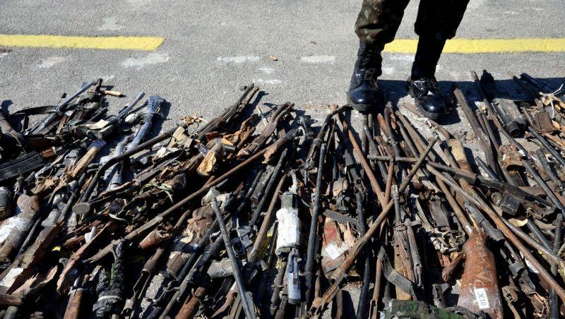 Exército destrói quase 9 mil armas no Rio de Janeiro