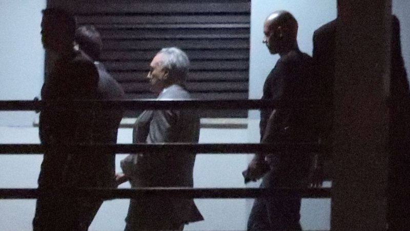 Temer fica em silêncio durante interrogatório na Polícia Federal
