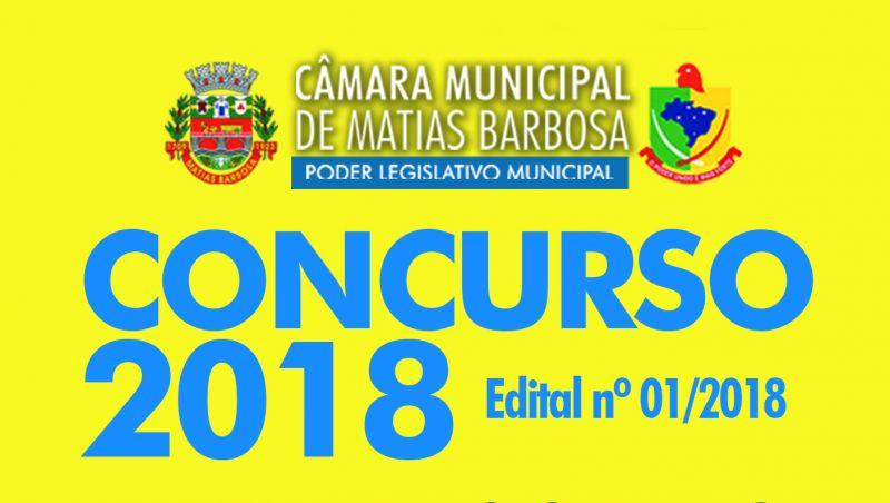 Câmara de Matias Barbosa divulga edital de concurso para quatro vagas