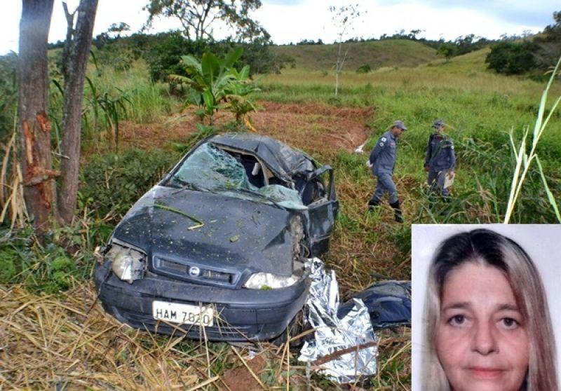 Acidente fatal na BR-356: Palio capota próximo ao trevo de Eugenópolis e condutora morre
