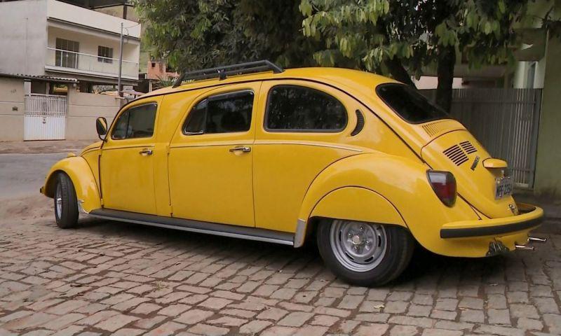 Fusca é transformado em 'limousine' em Castelo, ES