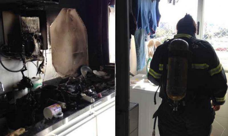 Panela esquecida no fogo provoca incêndio em apartamento de Uberaba, MG