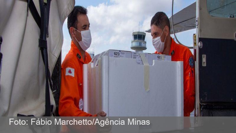 Governo de Minas distribui vacinas contra a covid-19 para as Unidades Regionais neste sábado