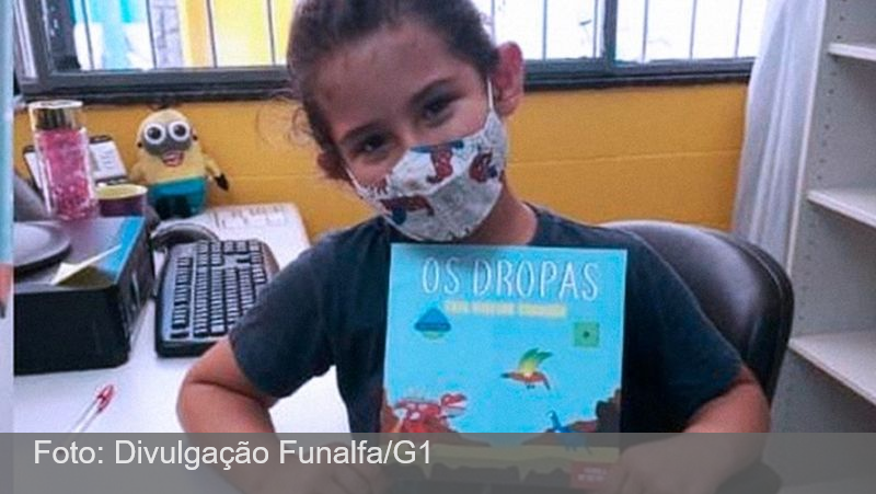 Escritor de 8 anos lança livro e promove contação de histórias no Bairro Santa Luzia em Juiz de Fora