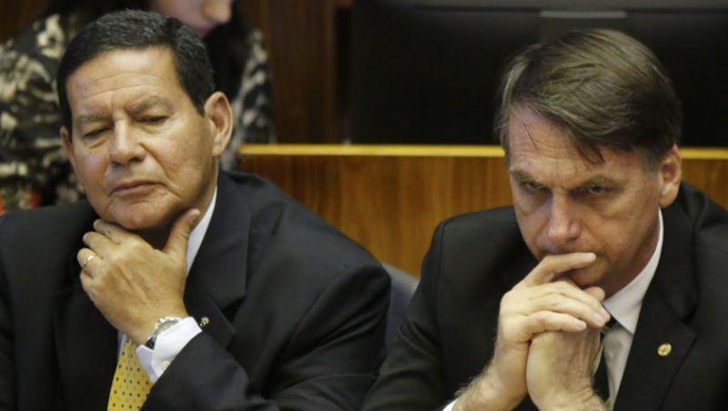 O Antagonista/FSP: A distância política entreJair Bolsonaro e Mourão é cada vez maior.